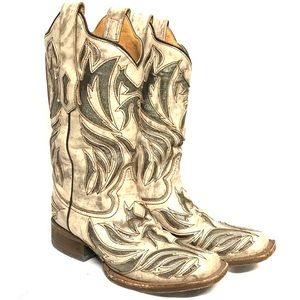 Corral leather cowgirl boots